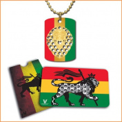 V. Syndicate Rasta Lion Grinder Card and Keychain