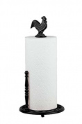 Home Basics Cast Iron Rooster Paper Towel Holder