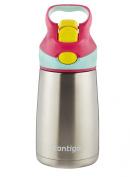 Contigo Autospout Striker Flip Chill Stainless Steel Kids Water Bottle, 300ml, Cherry Blossom