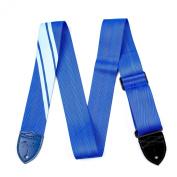 Fender 0990608004 Competition Stripe Guitar Strap, Blue/Light Blue