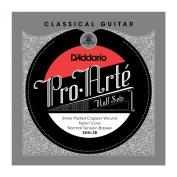 D'Addario SNN-3B Pro-Arte Silver Plated Copper on Nylon Core Classical Guitar Half Set, Normal Tension
