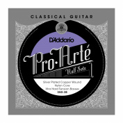 D'Addario SNX-3B Pro-Arte Silver Plated Copper on Nylon Core Classical Guitar Half Set, Extra Hard Tension