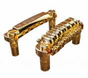 Babicz Full Contact Hardware Tune-O-Matic Bridge with Tailpiece - Gold