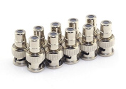 RuiLing 10 Pack RCA Female Plug to BNC Male Jack Adapters Coaxial Connector For CCTV Video