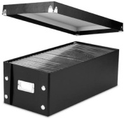 Snap-N-Store DVD Storage Boxes, 15.5 x 14cm x 19cm , Black, 2 Boxes per Pack