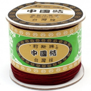 120 Metres Nylon Handcraft Braid Rattail Cord Chinese Knotting Thread Rope Dark Red
