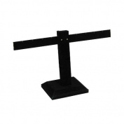 Black Earring Stand T-Bar 4-Pairs Jewellery Display