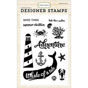 Carta Bella Paper Company CB-Stamp1 Whale of a Tail Stamp Set Scrapbook