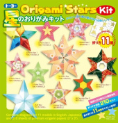 TOYO Japanese Origami Star Kit with English Translation of Folding Processes of 11 Different Stars - 7.6cm Square 210 Sheets