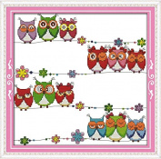 Happy Forever Cross Stitch Cartoon Animal, lovely owls