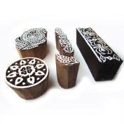 Hand Carved Paisley Pattern Wooden Design Tags for Block Printing