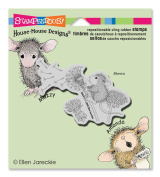 Stampendous Rubber House Mouse Cling Stamp 8.9cm x 10cm , Make A Wish