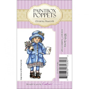 Paintbox Poppets EZMount Cling Stamps-With Love 4.4cm x 8.3cm