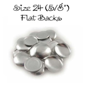 Cover Buttons - 1.6cm (SIZE 24) - FLAT BACKS - QTY 50