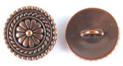 TierraCast Pewter Buttons-ANTIQUE COPPER LARGE BALI