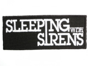 SLEEPING WITH SIRENS Iron On Sew On Embroidered Post Hardcore Band PatchApprox