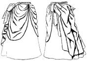 1887 Summer Overskirt Pattern