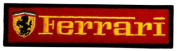 2.5cm x 10cm Ferrari Sports Cars Motorsport Racing Team DIY Embroidered Sew Iron on Patch