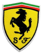 6.1cm x 7.6cm Ferrari Sports Cars Motorsport Racing Team DIY Embroidered Sew Iron on Patch