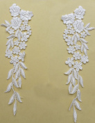 White Bridal Gown Skirt Veil Accessories Lace Trim Lace 36cm Hight By Pair