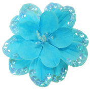 Cuteque International 3-Piece Sequin Flower Craft Beaded Trim, 9.5cm , Sapphire