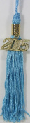 Light Blue KinderGrad Tassel with 2015 Gold Charm