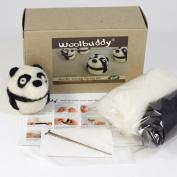 Woolbuddy Needle Felting Panda Kit
