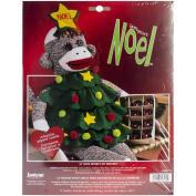 Janlynn Noel Holiday Sock Monkey Companion Kit, 50cm