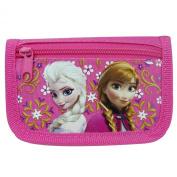Disney Frozen Anna and Elsa Hot Pink Trifold Wallet
