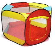 Ball Pit Play Tent for Kids - 6-sided Playhouse for Children - Fill with Plastic Balls or Use As an Indoor or Outdoor Tent (Balls Sold Separately) By Playou™
