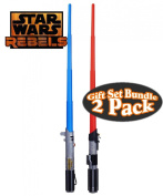 Star Wars Rebels Darth Vader Lightsaber & Anakin Skywalker Lightsaber Toys Battle Pack Gift Set Bundle - 2 Pack