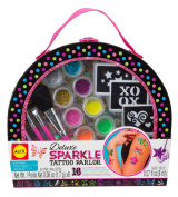 ALEX Toys Spa Deluxe Sparkle Tattoo Parlour Craft Kit with Travel Case