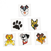 Puppy Dog Party Favour Children's Temporary Tattoos - 72 pcs