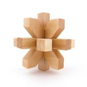 brain teaser puzzles Educational Wood Toys WY2233 Plum Flower Kong Ming Lock Game Brainteaser Wisdom Challenge Intellectual Training Creative Thinking IQ Magic