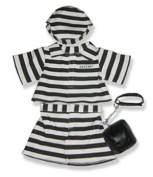 Prison Outfit -9302 Fits 38cm - 41cm bears, includes Build a Bear, The Bear Mill, and Stuff your own Animals.