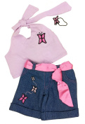 Butterfly Top and Pants Outfit Fits Most 36cm - 46cm Build-a-bear, Vermont Teddy Bears, and Make Your Own Stuffed Animals