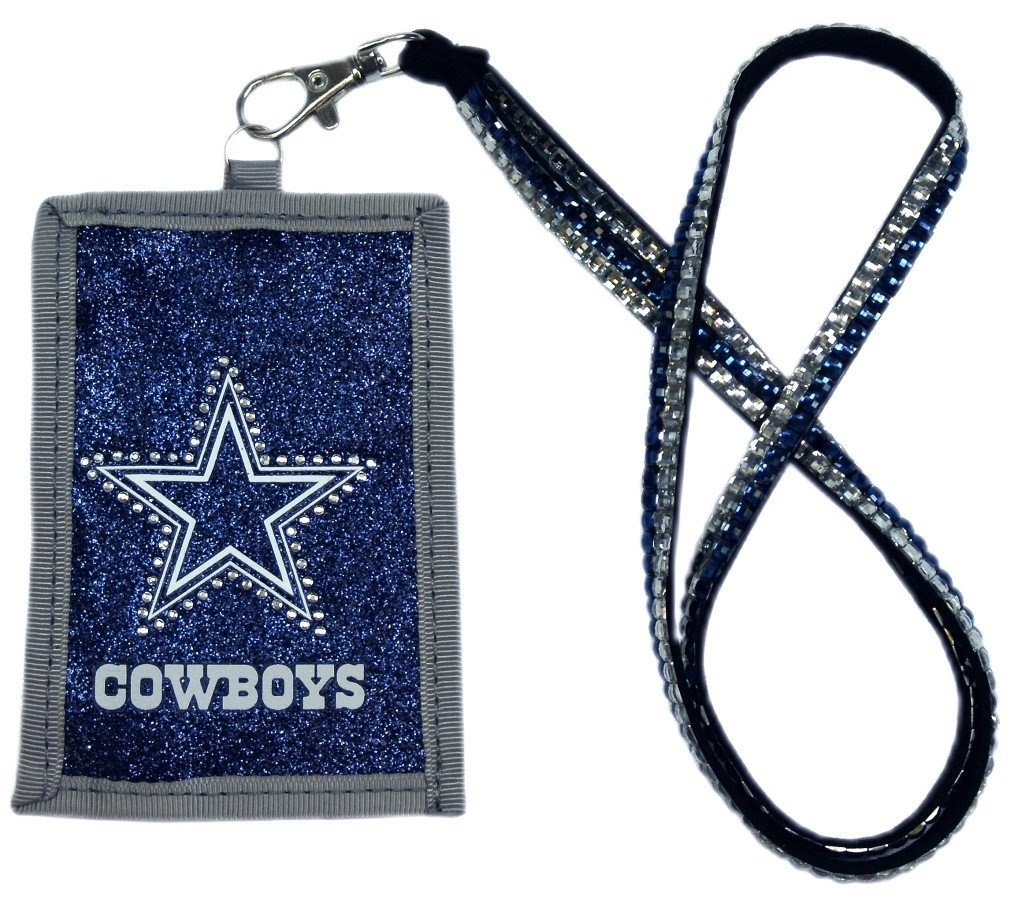 Dallas-Cowboys-NFL-Beaded-Lanyard-with-Nylon-Wallet-Rico-Delivery-is-Free