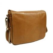 Piel Leather Expandable Messenger Bag
