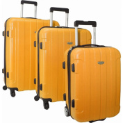 Traveller's Choice Rome 3-Piece Hardshell Spinner/Rolling Luggage Set