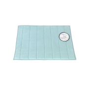 Carnation Home Fashions 43cm by 60cm Memory Foam Bath Mat, Spa Blue