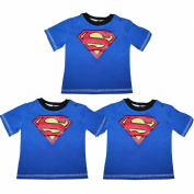(Pack of 3) Baby Boys DC COMICS SUPERMAN Crew-Neck Short Sleeve T Shirt