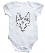 HippoWarehouse Geometric Fox baby vest boys girls