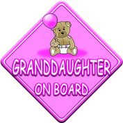TED BALL * GRANDDAUGHTER ON BOARD * car window sign