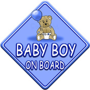 TED BALL * BABY BOY ON BOARD * car window sign