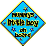 "FUNKY * mummys little boy on board "" novelty baby on board car window sign"