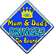 SWIRL JEWEL * Mum & Dad's PRINCES * On Board Novelty Car Window Sign