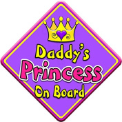 SWIRL JEWEL * Daddy's Princess * On Board Novelty Car Window Sign