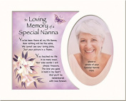 Memory Mounts Memorial In Loving Memory Of A Special Nanna Mount And Poem For A Photo Frame 25cm x 20cm