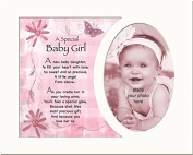 Memory Mounts Gift For A New Baby Boy Or Girl - Touching Gifts For A Photo Frame 25cm x 20cm