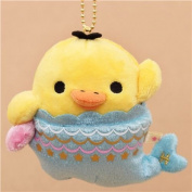 zodiac sign Rilakkuma yellow chick as Pisces fish plush toy charm